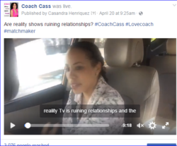 Coach Cass speaks on reality tv relationships